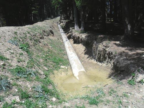 Conducta de apa linga Cepeca, Busteni